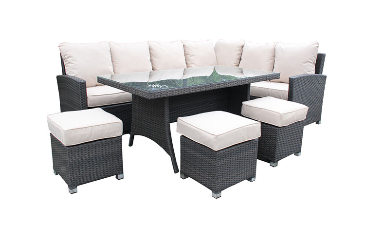 Factory wholesale outdoor durable rattan sofas modern designs rattan sofa set