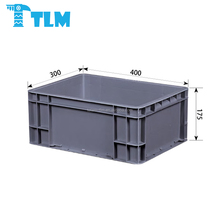 Whole Sales Low Price Food Grade Recycle Plastic Gray EURO STACKING CONTAINER for Warehouse