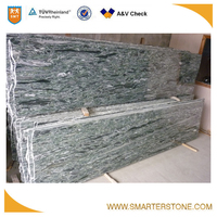 Cutter slab ocean green tropical green granite for Bangladesh market