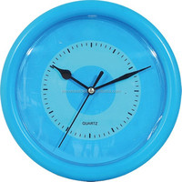 Blue color modern 8 inch 20 cm cheap small wall clock
