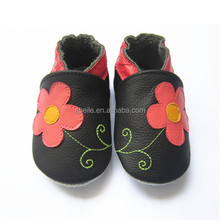lovely vulcanized rubber black casual flats cow leather baby angel cotton name brand cheap kids shoes wholesale