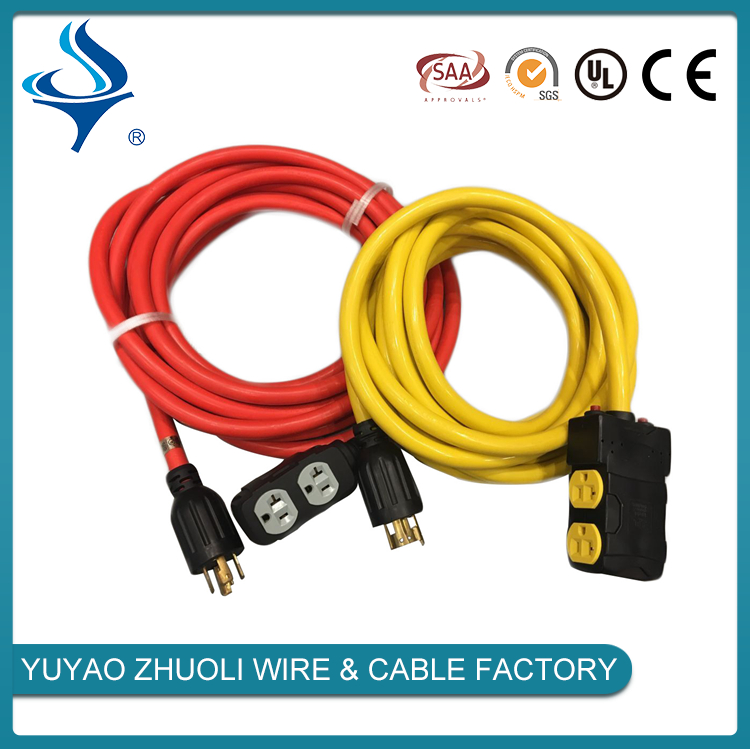 10A 16A plug insert SAA certification and colorful extention cable with plug