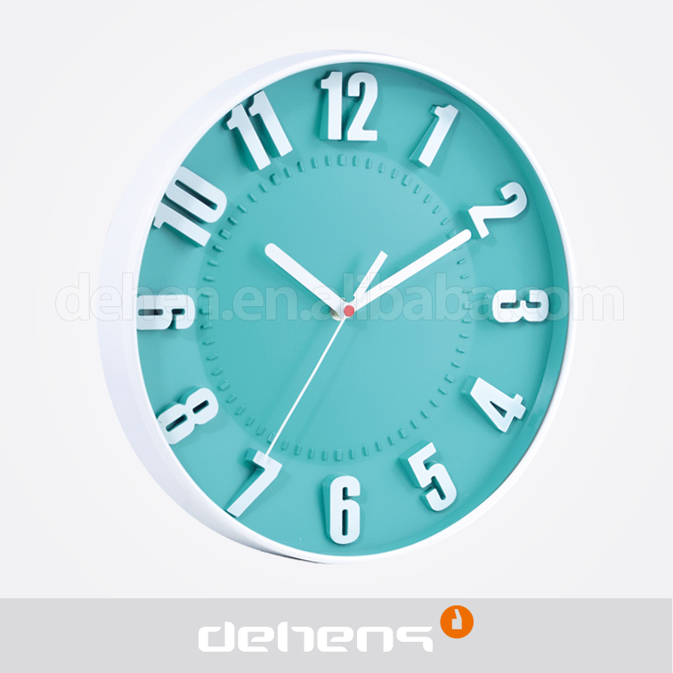 Deheng 12 inch 3D cheap plastic decorative wall clock
