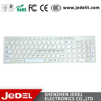 2.4 ghz wireless keyboard combo white color computer keyboard and mouse