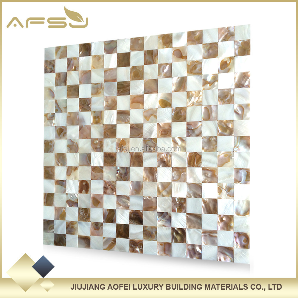 Building materials wall decoration tiles chessboard shell mosaic