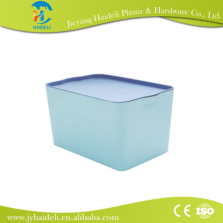 Big flat plastic storage box kids foldable storage box, factory price