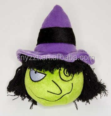 plush Halloween witch/stuffed plush Halloween witch toys