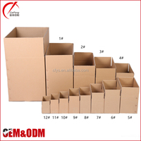 Wholesale recyclable corrugated cardboard packaging box, custom logo printed foldable carton shipping boxes