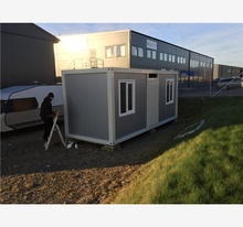 decorated demountable convenient store  prefabricated 20ft lavatory container for Algeria