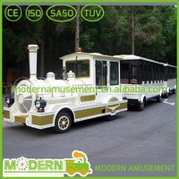 Modern Tourist Diesel and Electric Trackless Train For Sale