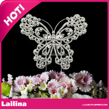 Beautiful Crystal butterful cake toppers for wedding decoration / Rhinestone wedding cake topper