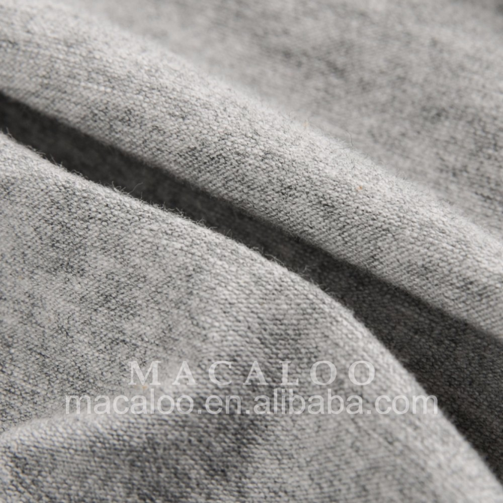 Wholesale heather grey 95/5 cotton spandex knitted lycra fabric