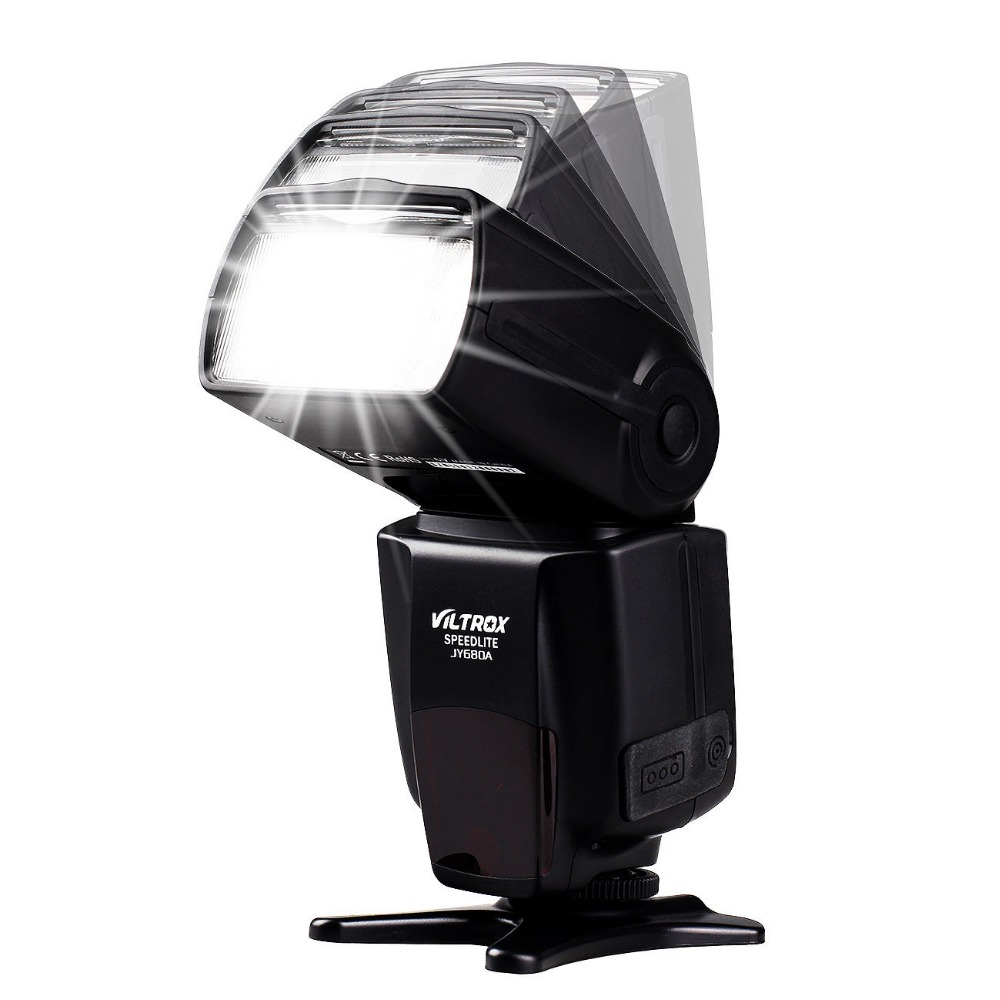 Viltrox JY-610II Mini LCD Flash Speedlite + White Diffuser + Flash Stand for Canon Nikon Pentax Olympus A7 A6000 A6300