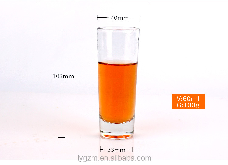top quality crystal recycled Empty clear glass drinking cup