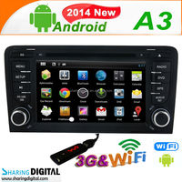 AUD-7683GDA android DVD support 3G WIFI Mirrolink BT GPS for audi a3 car radio navigation