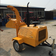 Hot selling Diesel engine 50HP towable wood chipper for tractor
