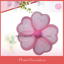 Pink Heart shape stocking flower designs wth glitter paint