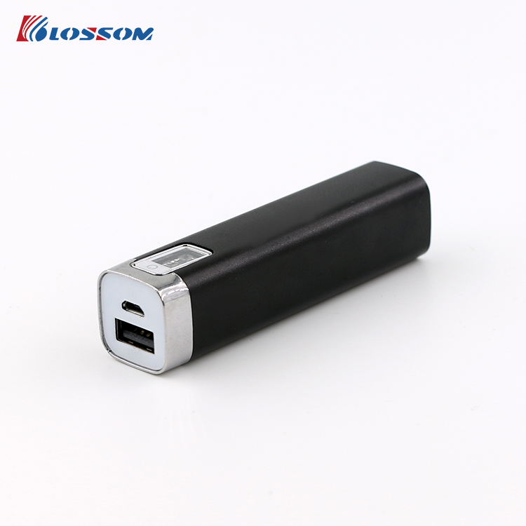 2000mA ~ 2600mA Custom Metal Lipstick Power Bank
