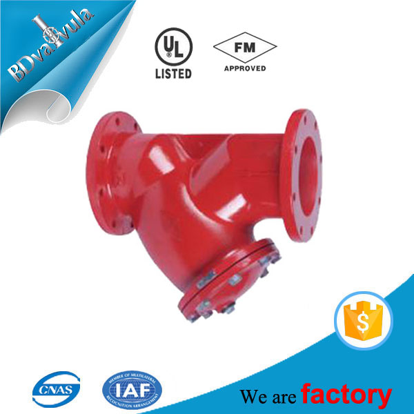 20bar 300psi AWWA FM UL listed ductile iron flange Y strainer