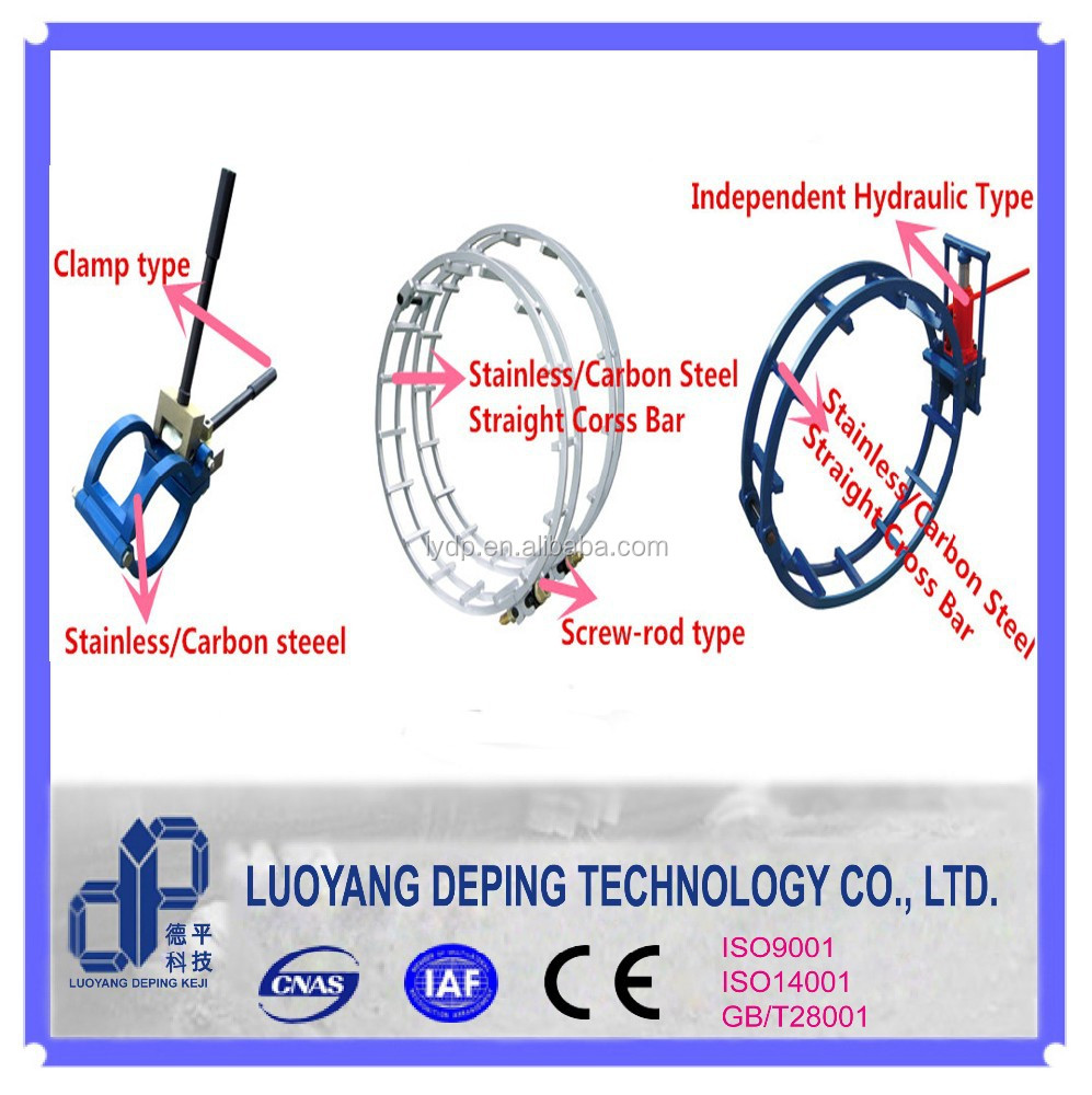 pipeline welding project pipe jointing used external pipe coupling clamp