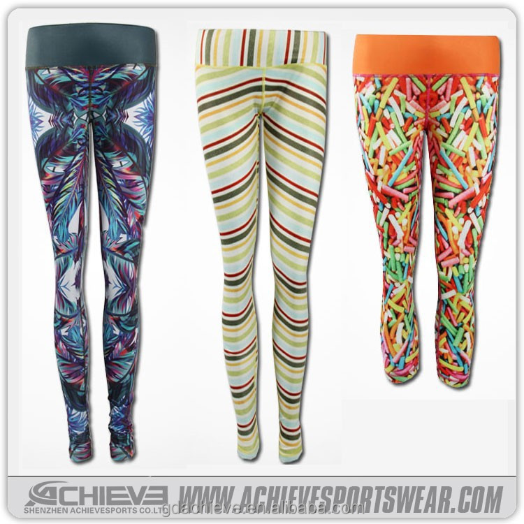 2015/2016 hot sale custom sublimation Yoga Pants, bamboo yoga pants