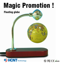 Levitating And Rotating led globe light bulbs, plastic snow globe with photo insert