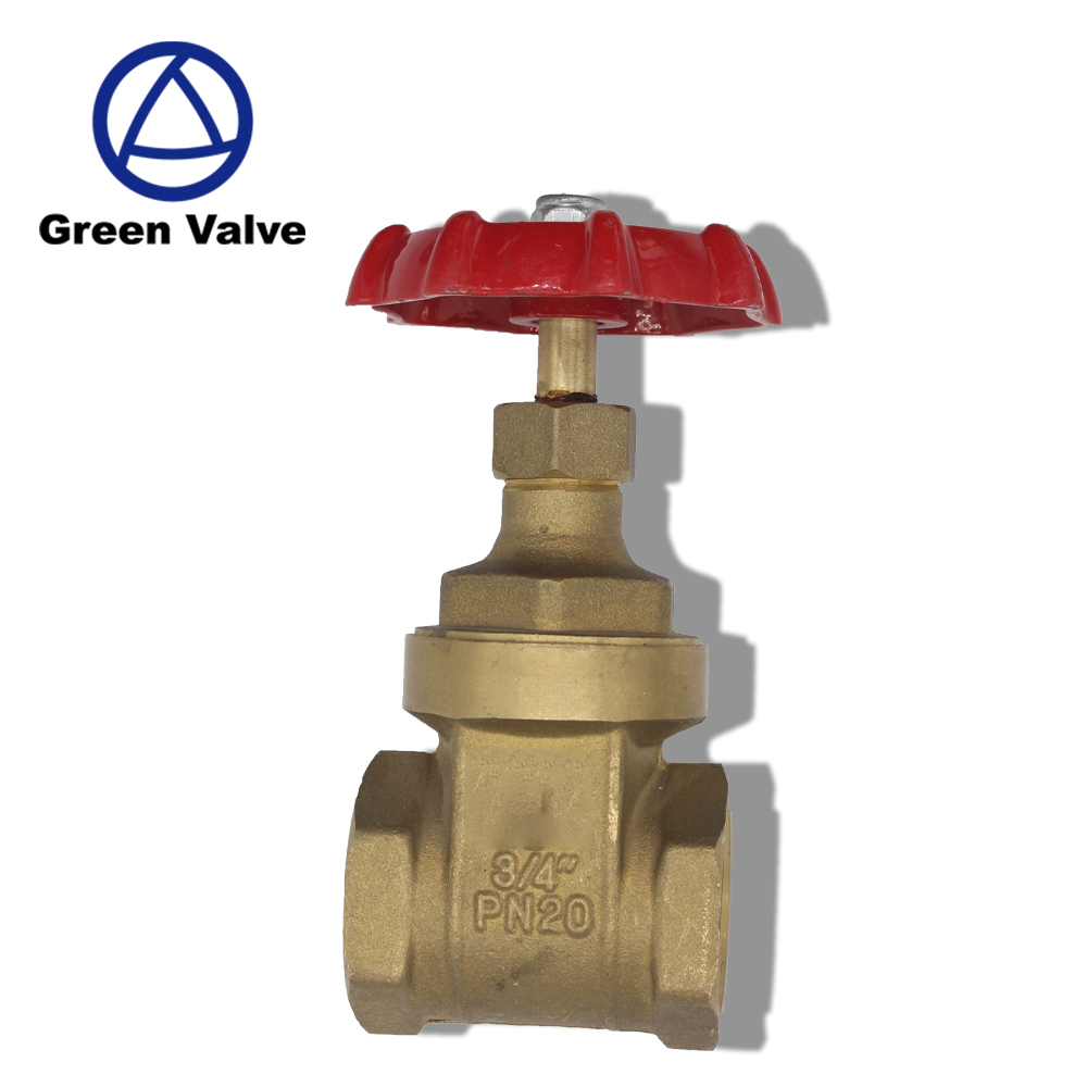 Green-GutenTop GT2251 Aluminum handwheel standard port medium pressure PN20 brass water gate valve drawing