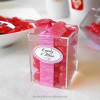 Clear acrylic favor box,stylish gift clear acrylic candy favor box