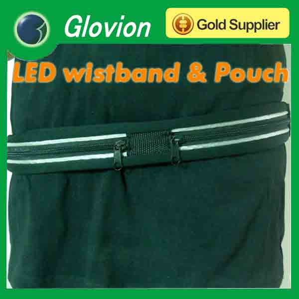 led lighted waist belt led waist belt led light belt with pounch