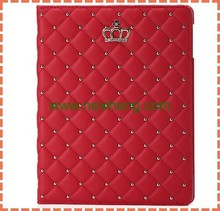 Stylish quilted case for ipad 5,for ipad air case