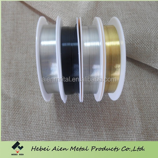 Gold color plated copper Wire Jewelry Making 1mm