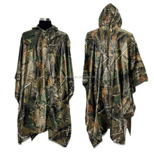 PVC Camo Poncho For Hunting