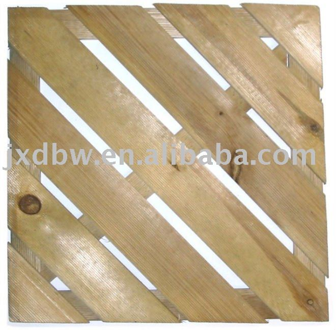 Wooden Decking Floor Interlocking Tiles Garden Deck Slab