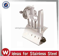 5 pcs stainless steel bar set/bar tool with holder