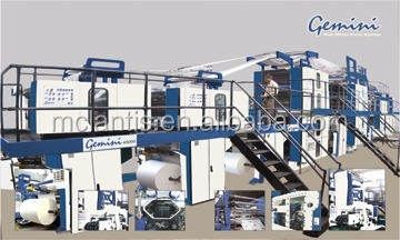 GEMINI 45000 WEB OFFSET PRINTING MACHINE FOR NEWSPAPERS PRINTING