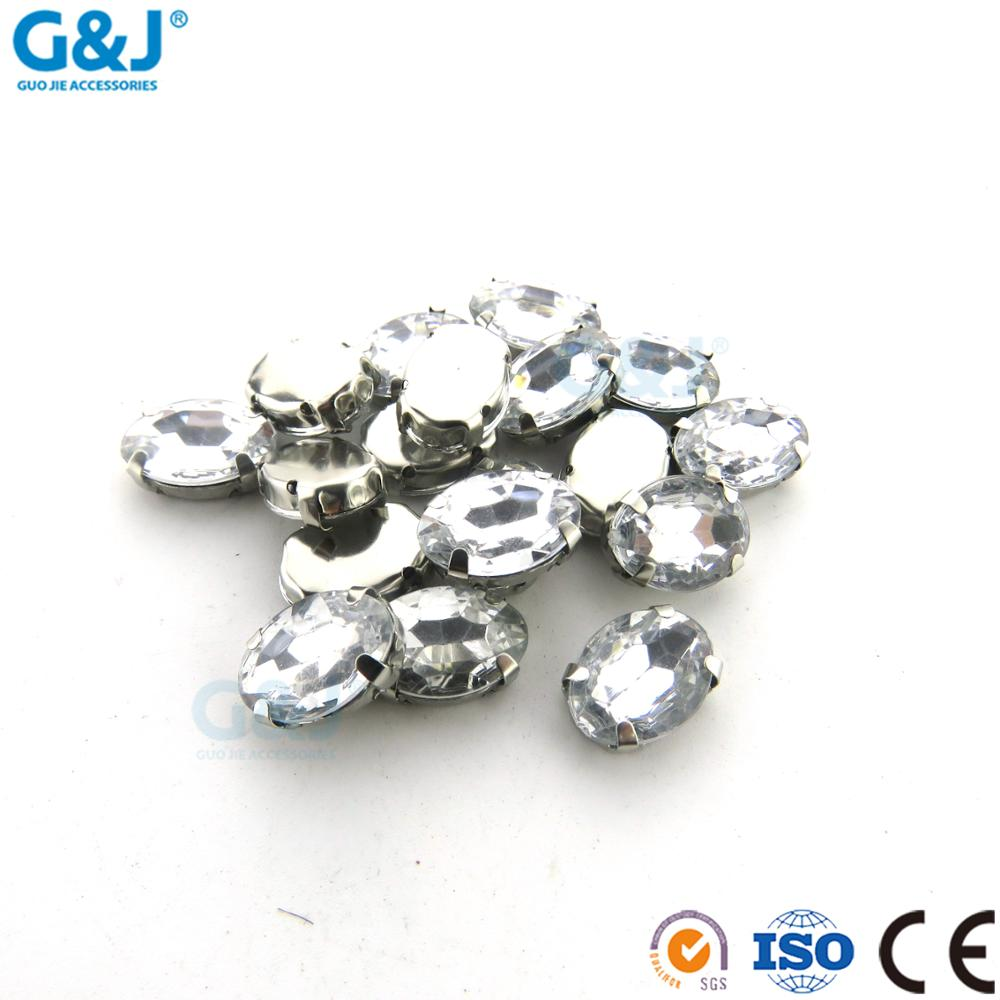 Well Designed sewing accessories Oval Shape crystal claws GuoJie