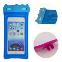 2016 new design plastic waterproof case pouch for cell phone