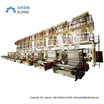 HDPE LDPE Plastic film blowing extruder machine