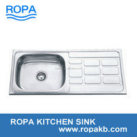 9643 stainless steel wash basin in kitchen have large stock sink