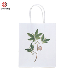 Custom murah recycle brown kraft paper bags in bulk for grocery