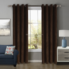 Simple design type of office window curtain Brown Embossed curtain