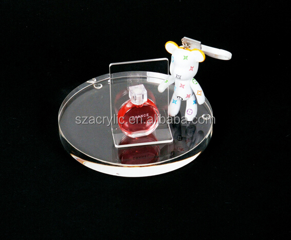 round acrylic display jewelry, cosmetics plate