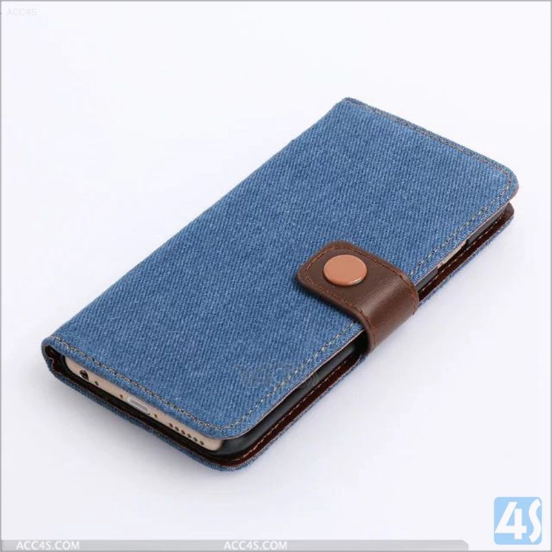 For iPhone 7 Case new Jean PU Leather Wallet Case