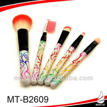 High-ranking colorful pattern custom cosmetic brushes