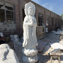 Chinese supplier high quality natural marble kuan yin statue