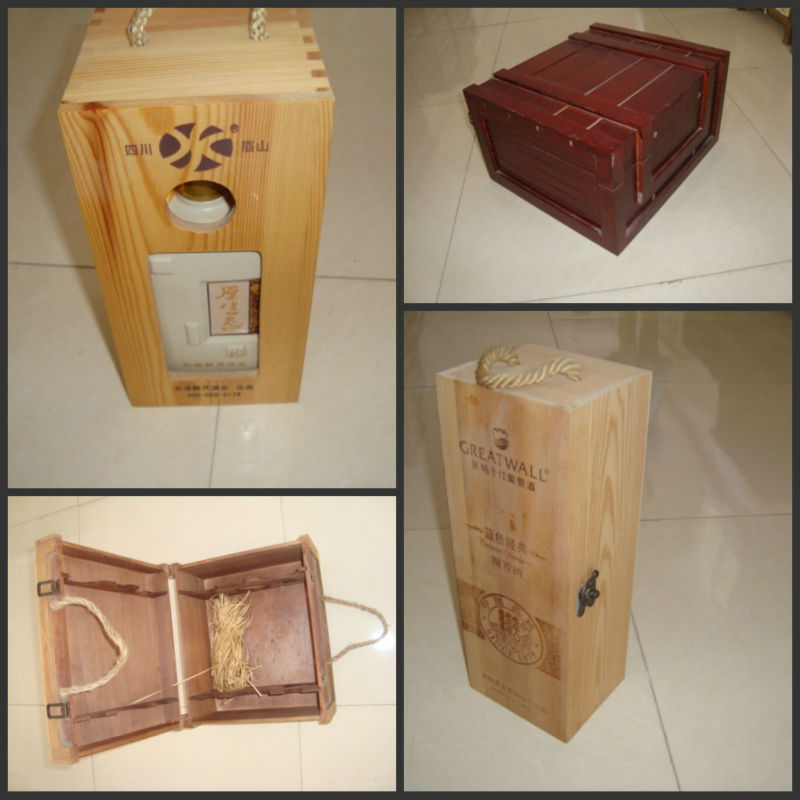 professional manufacturer wood wine boxes design