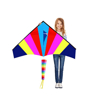 Hengda new patent long tail rainbow delta kite for child