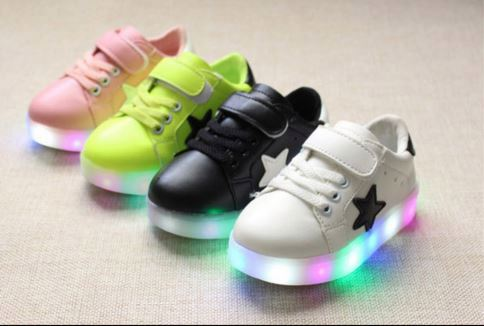 Fashion children Led light up shoes kids leisure comfortable sneakers
