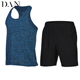 Sports Suit Men's Summer Fitness Wear Vest Shorts Gym Sportswear Quick Dry Run Clothes Two Piece Sets