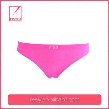 Pink custom seamless woman underwear wholesale /custom girl underwear